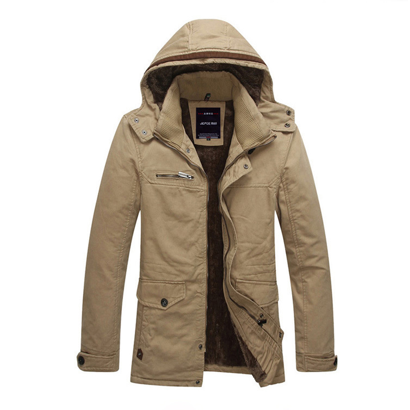 Long section New Mens Fleece Jacket Coat Brand Fashion Winter Warm Thick Jacket Men Outerwear Sportswear 3 Color Army Clothes cartelo brand 2016 winter clothes the new water mink collar coat male in the long section warm coat for man