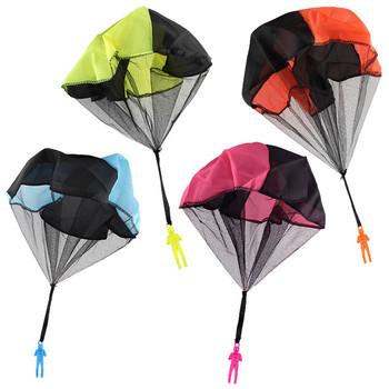1 szt Ręczne rzucanie dzieci Mini Play spadochron zabawki dla dzieci gry na świeżym powietrzu zabawki edukacyjne dla dzieci żołnierz Outdoor Sports tanie i dobre opinie Tkaniny 3 lat Gimnastyka 43cm Chwytając ruch zdolność rozwoju T00975 Unisex smilewill parachute