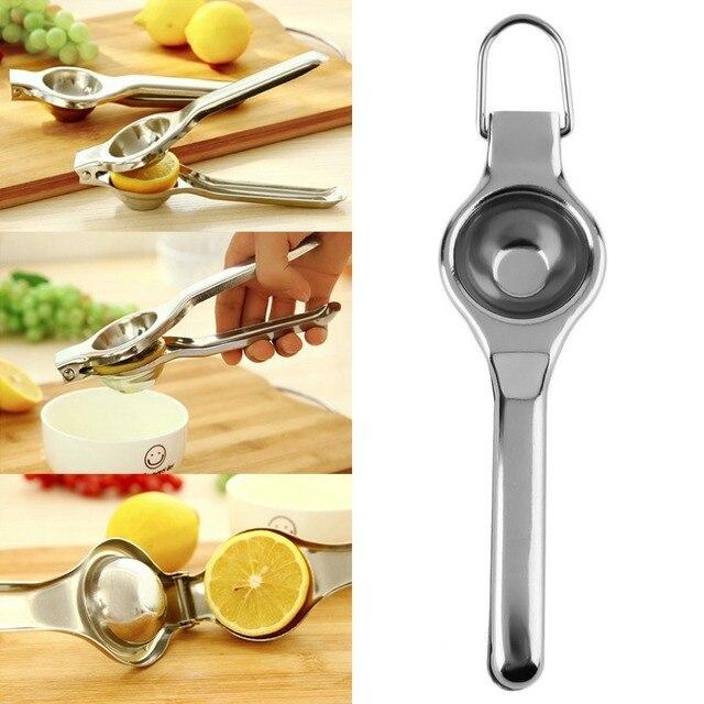 Mini Stainless Steel Fruit Juicer  Household Hand Press Manual Juicer  Lemon orange Lime fresh juice tool Squeezer Machine