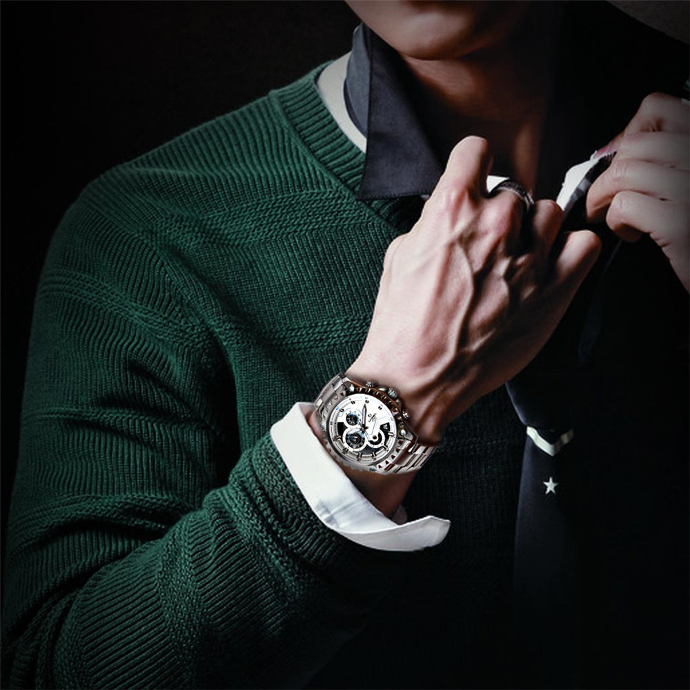 Marca de lujo Sport Men Relojes Moda Charm Mens Movimiento de cuarzo - Relojes para hombres - foto 6