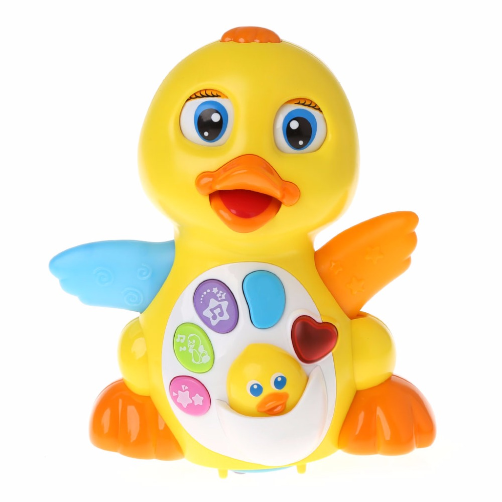 Action With Adjustable Sound Toys For Kids Baby Musical Duck Toy Lights