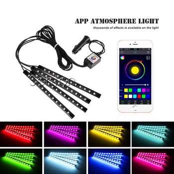 Car Interior Neon Lamp For Android iOS APP Control For BMW E46 E39 E90 E60 E36 F30 F10 E34 X5 E53 E30 F20 E92 E87 M3 M4 M5 X5 X6 image