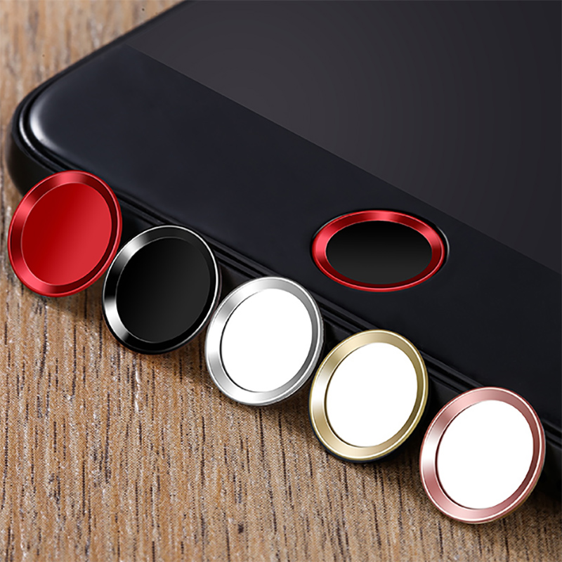 Touch ID Aluminum Home Button Sticker For iPhone 8 7 7 Plus 6 6s Plus SE 5s iPad Pro Fingerprint Identification Unlock Touch Key
