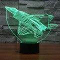 7-цветная Постепенное Изменение СВЕТОДИОДНЫЙ Сенсорный Выключатель Визуализации Иллюзия Атмосфера Свет Настольная Лампа Украшения Дома Самолет Формы