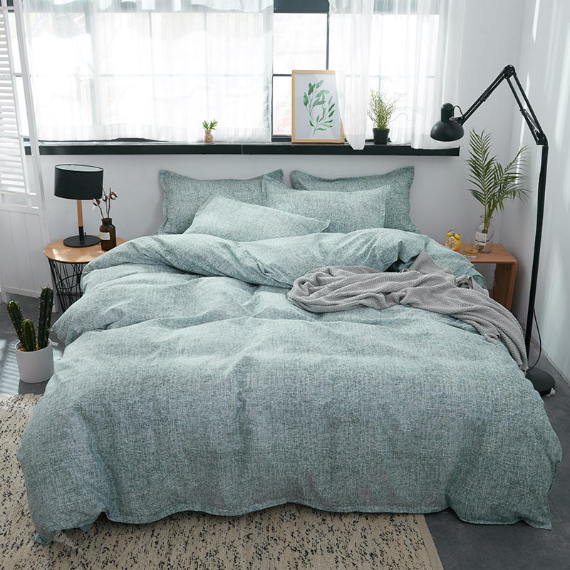 3/4pcs Bedding Sets Aloe Cotton Green Color Duvet Cover Flat Bed Sheet Comforter Bed Linen Set With Pillowcase Home Textile(China)
