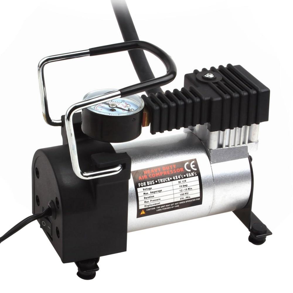 Hot Portable Air Compressor Heavy Duty 12V 140PSI/965kPA Pump Electric Tire Inflator Car Care ...