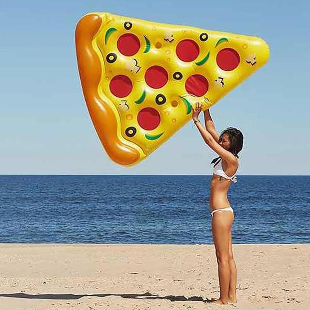 Giant Inflatable Pizza Slice Pool Float For Adults Children Flamingo Unicorn Swimming Ring Water Mattress Pool Toys 2