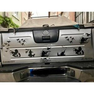 Image 5 - Autocollants de voiture en vinyle pour chasseur sauvage, 2 couleurs, 15.5x11.5cm, accessoires de voiture, style de chasse, canard