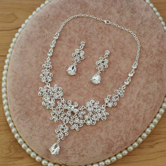Moda de alta Qualidade de Cristal Nupcial Do Casamento Conjuntos de Joias  Mulheres Noiva Coroas Tiara d3db54c656