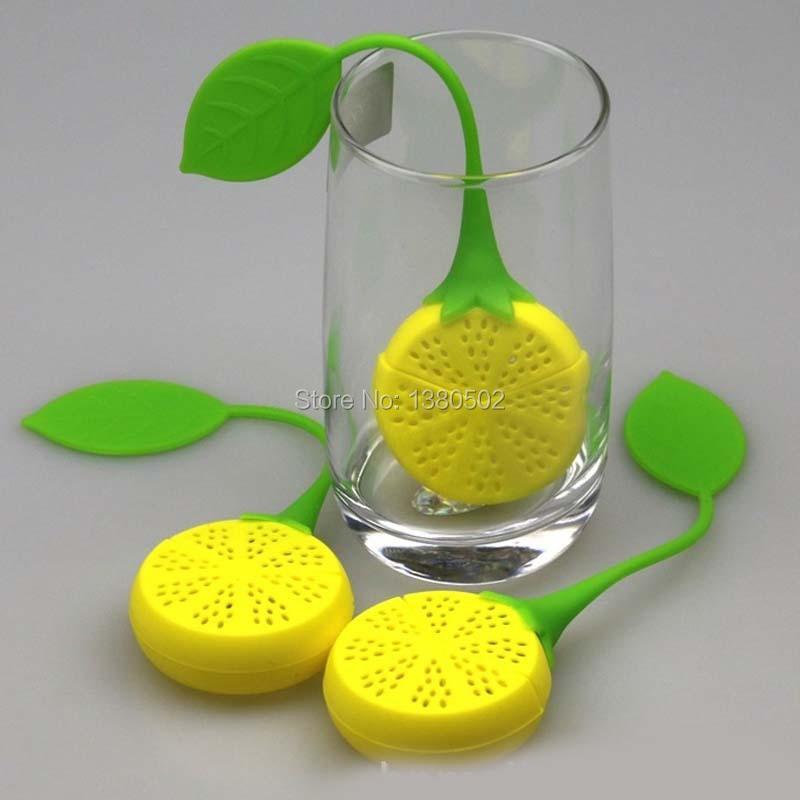 Selling 10Pcs/lot Silicone  Hot Sale  lemon shape Design Tea Bags Leaf Strainer Herbal Spice Infuser Filter