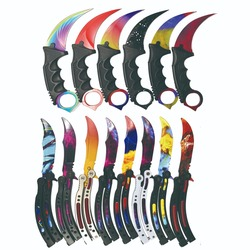 Нож из нержавеющей стали CS Go, тактический нож для выживания, нож Karambit, тренировочный нож с бабочкой для охоты, кемпинга, счетчика удара