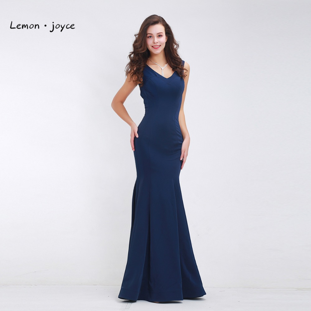 Natural Simple Elegant 2018 Blue Bridesmaid Dresses With: Unique Desiger Mermaid Prom Dresses 2018 Women Long Jersey