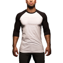 Men's Long Sleeve T-Shirt Summer Casual Loose Color Matching Raglan Sleeve Male Tops PLUS SIZE M-2XL loose stripe raglan sleeve t shirt