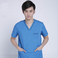 Summer Doctors Short Sleeve Scrub Uniforms Hospital Surgical Workwear Pet Doctors Clothes Operation Medical Clothing