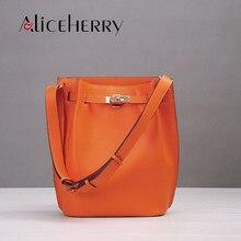 2e2087e078 Sacs seau marque de luxe sac à main en fer à cheval sac à main en cuir  véritable designer bandoulière sacs à bandoulière femmes .