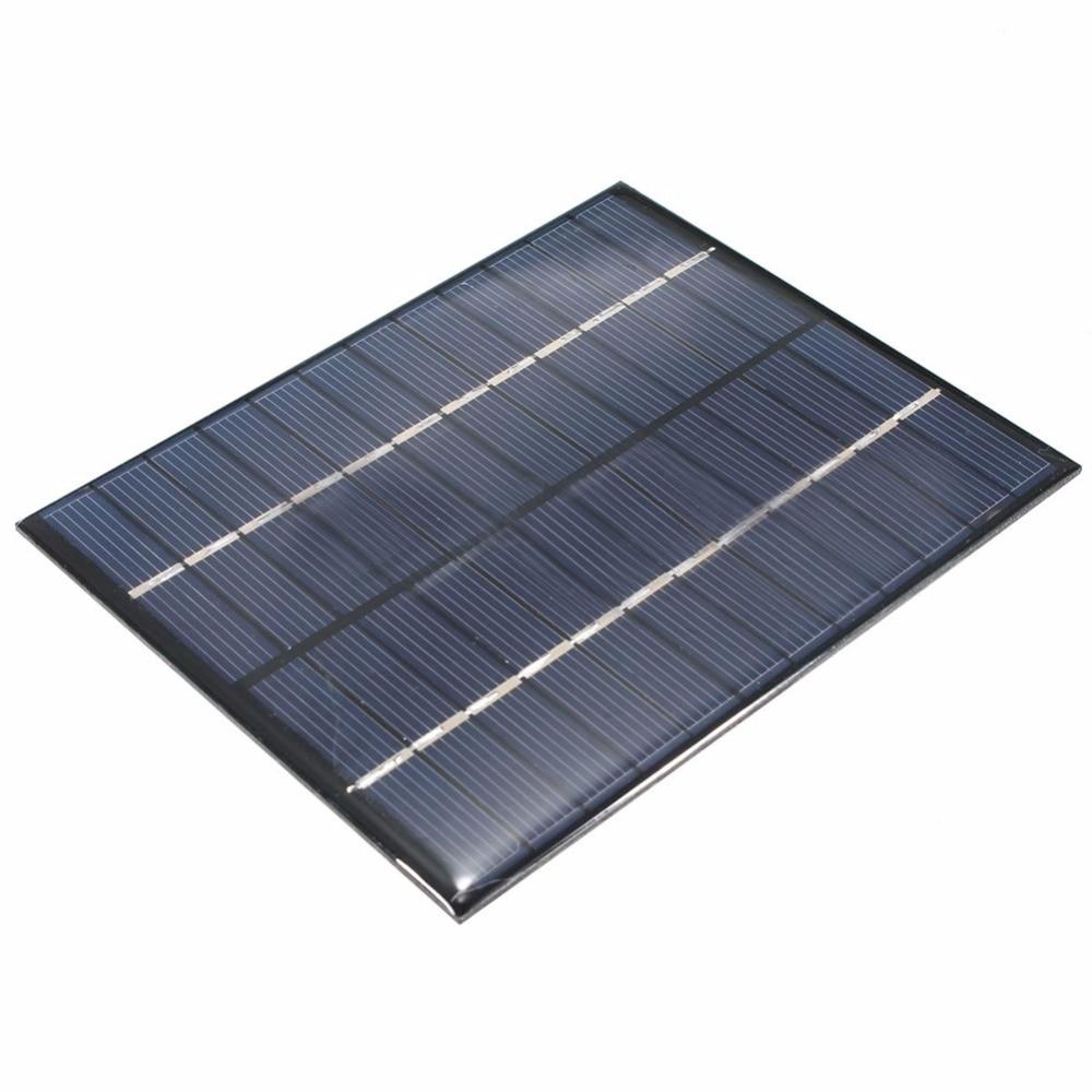 2W 12V Solar Panel Senior Polycrystalline Silicon Solar Panel DIY Solar Board 0-160Ma colour black