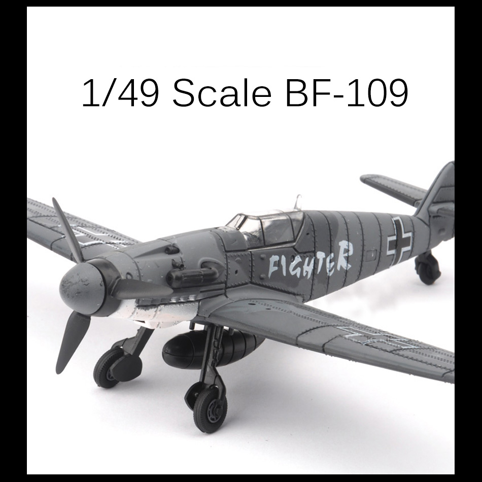 2017 New 4D Model Plastic Aircraft Model 1/49 Messerschmitt BF-109 Fighter playmobile brinquedos toys for children boys