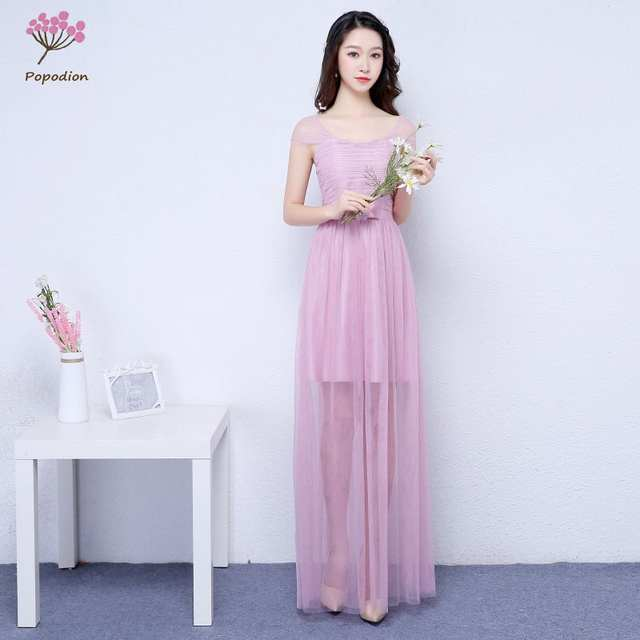 Online Shop Purple bridesmaid dresses long for wedding guests sister party  formal dress plus size dress prom dresses real photo ROM80103  5573fd1af649