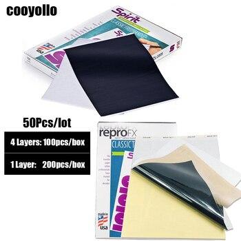 Spirit Original 50Pcs Thickening Tattoo Thermal Transfer Paper 1&4 Layers Tattoo Stencil Print Copier Carbon Paper Accessories