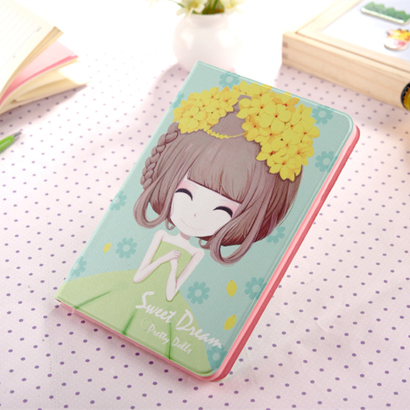 Cartoon Girl Case For iPad Mini 1 2 3 Cover Stand Leather For Apple iPad Mini2 Mini3 Case Tablet Protective Cover Funda Coque ...