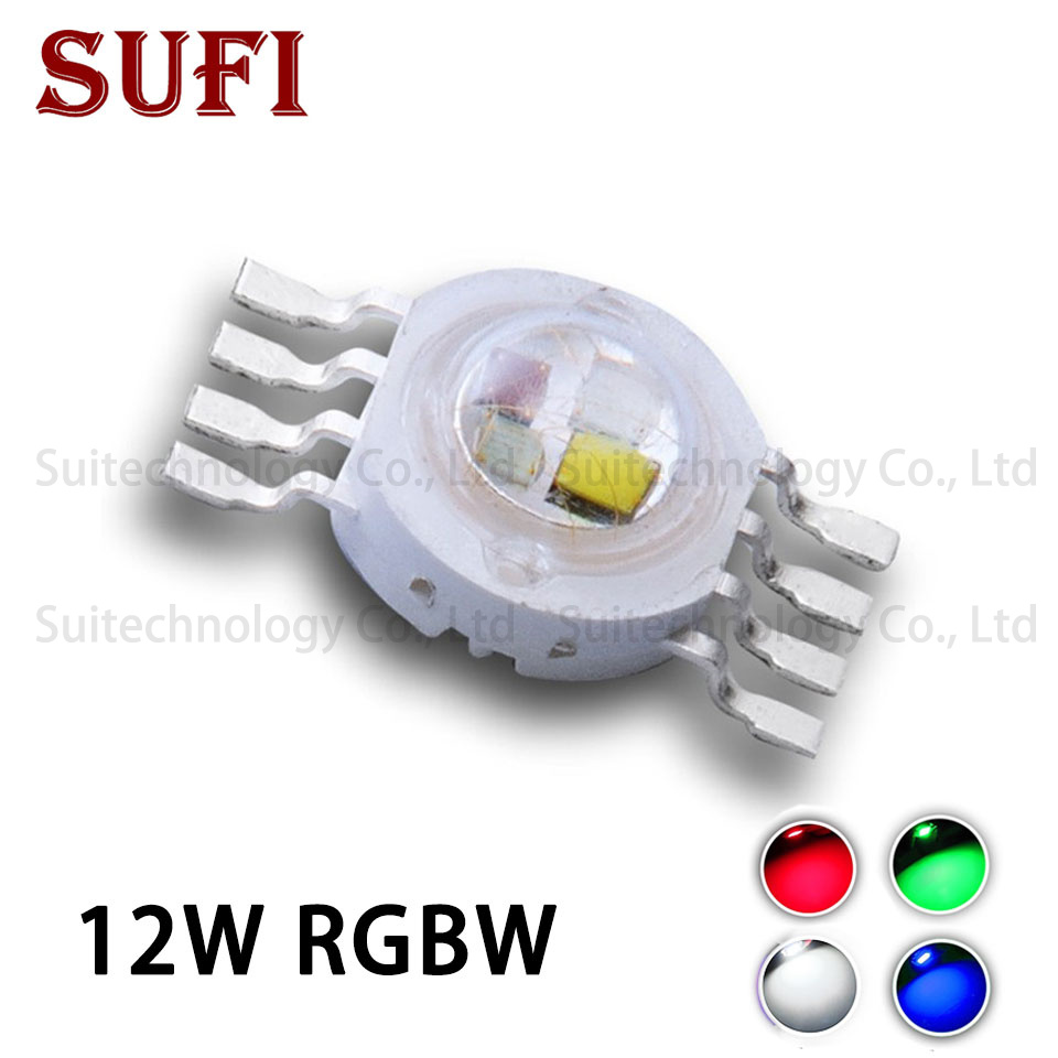 High Power 12W LED Chip RGBW LED Chip Red Grren Blue White COB Beads 8 Pin 45mil Full Color For DIY LED Floodlight Stage Light