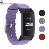 Correa de tela tejida para reloj Fitbit charge 3 y 4, repuesto de correa estable para pulsera inteligente charge3 4