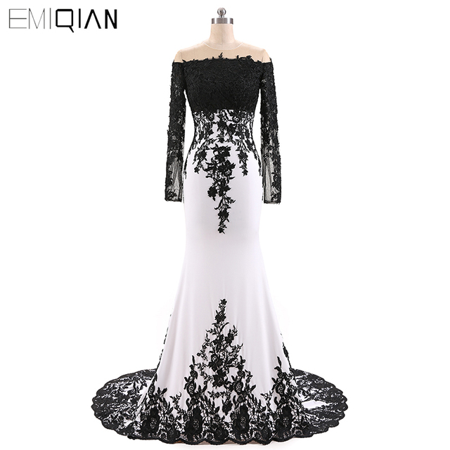 US $126.75 25% OFF|Hot Sale Plus Size Mother Of The Bride Dress Floor  Length Mermaid Dress with Black Applique-in Mother of the Bride Dresses  from ...