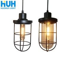 Lámpara colgante clásica Loft de hierro estilo Industrial iluminación del hogar sala de estar habitación de hierro accesorio de luz de suspensión E27 lámparas Base