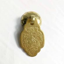 Cotom 1 шт ручка из чистой меди династии Мин и Цин классическая