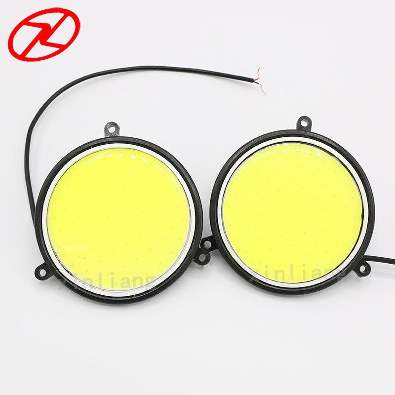 2PCS Super Parlaq LED DRL Gündüz işləyən Duman Sürmə - Avtomobil işıqları - Fotoqrafiya 2