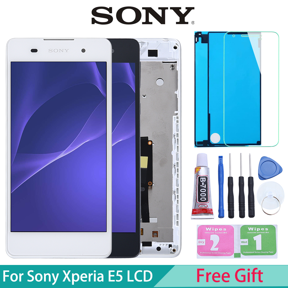 Original LCD For <font><b>SONY</b></font> Xperia E5 Display Touch Screen Digitizer Replacement For <font><b>SONY</b></font> Xperia E5 LCD F3311 F3313 image