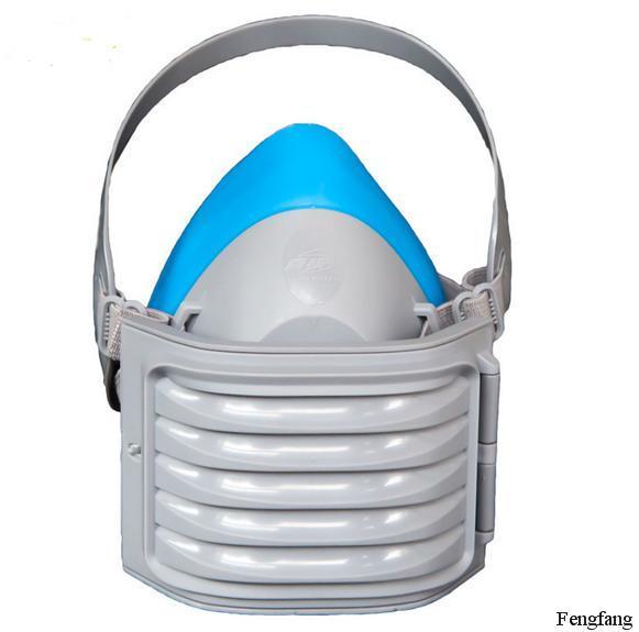 Máscara de polvo del respirador silicona filtro de algodón cielo azul anti polvo del respirador de seguridad industrial polvo humo respirador mascarilla