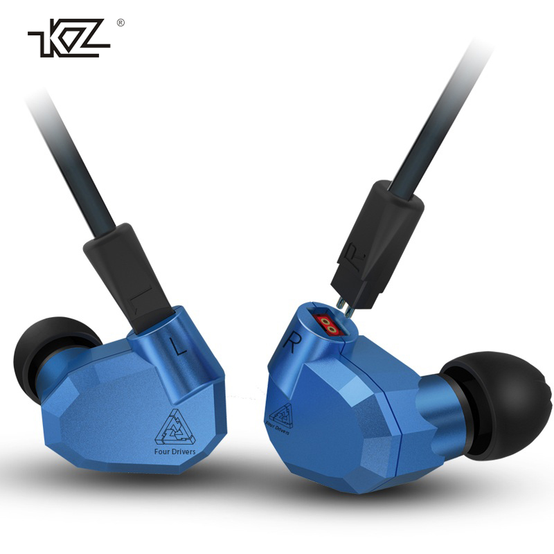 Original KZ ZS5 HIFI Earphones 2DD+2BA Hybrid In Ear DJ Monito Super Bass Earplug Headsets Stereo Surround Earbuds For iPhone glaupsus gj01 in ear 3 5mm super bass microphone earphones earplug stereo metal hifi in ear earbuds for iphone mobile phone