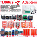 TL866CS programador 21 adaptadores russo inglês manual de Alta velocidade USB Universal TL866 AVR PIC Bios 51 MCU Eprom Programmer