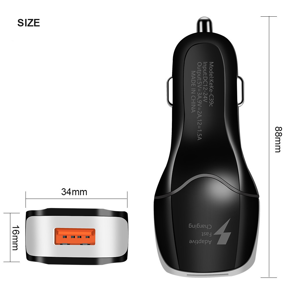 Image 5 - Universal Car Charger USB Quick Charger 3.0 5 Volt 3.1A for Iphone 7 8 Cell Phone Fast Charger for Samsung s8 s9 Huawei Smart IC-in Chargers from Consumer Electronics