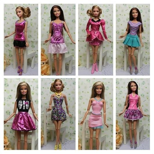 AILAIKI Toy 100pcs / lot Pakaian Jenama Asal Jenama Pakaian Bergaya - Anak patung dan aksesori - Foto 6