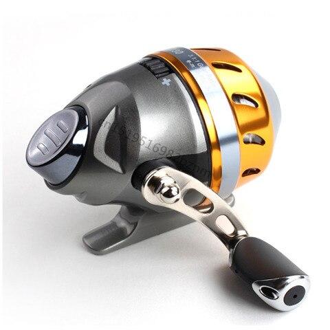 estilingue mao carretel de pesca fiacao roda 2 bbcatapult fechado carretel com linha de caca