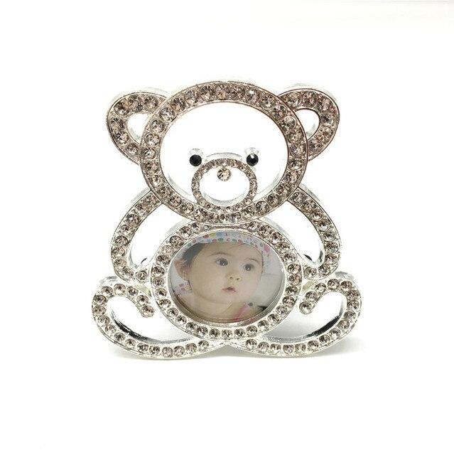 cute teddy bear as a picture frame pearl diamond metal european ...