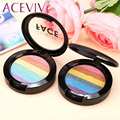 ACEVIVI Rainbow Eyeshadow Makeup Highlighter Palette 6 Colors Powder Cosmetic Blusher
