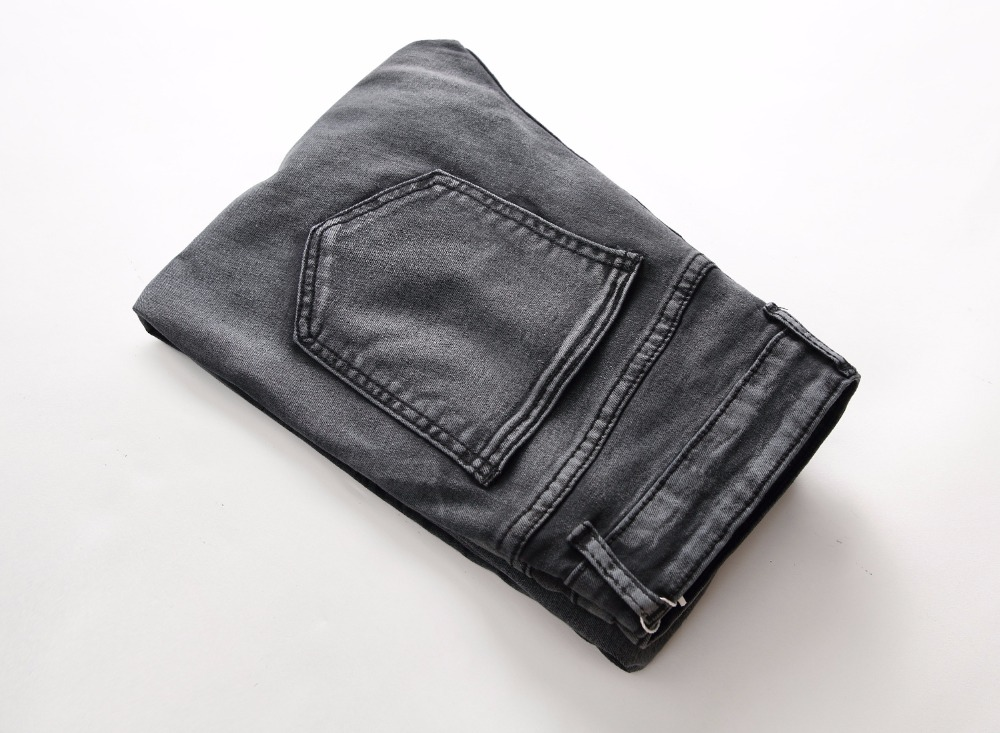 HOT 2019 Fashion men 39 s jeans men snowflakes Ripped hole locomotive fold jeans feet Leg Zipper Distressed hip hop street trousers in Jeans from Men 39 s Clothing