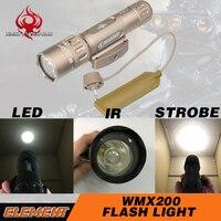 NE оружие для страйкбола фонарь для ружья Строб WMX200 ИК лазерный светодиод Скаут Охотничий Тактический фонарь WMX200 ружье ИК свет NE04014