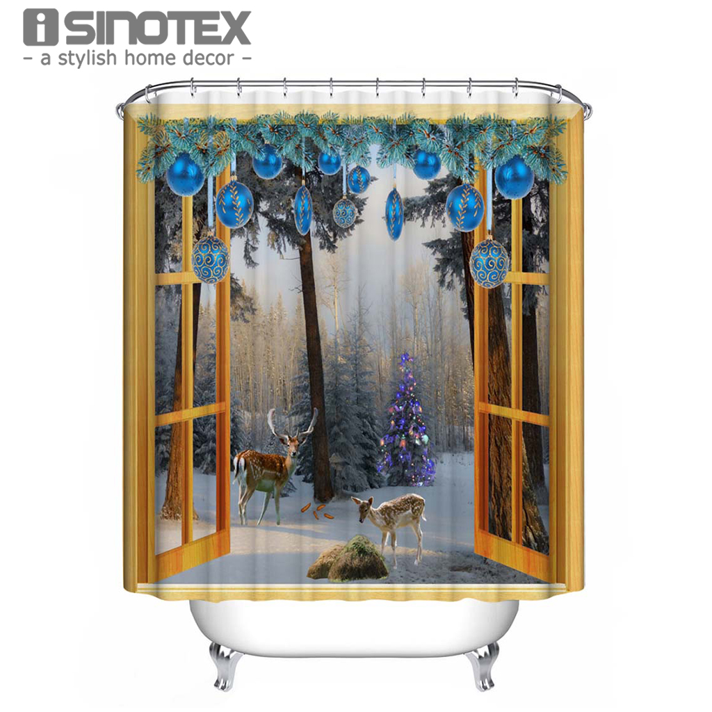Popular Santa Shower Curtain Buy Cheap Santa Shower