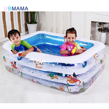 High Quality Children's Home Use Paddling Pool Large Size Inflatable Square Swimming Pool Heat Preservation Kids Paddling Pool multifunctional castle shape inflatable paddling pool swimming pool for kids made of nontoxic high density tough pvc play pool