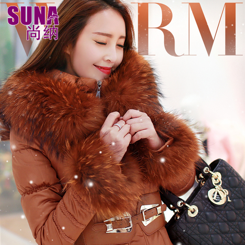 2016 new hot winter Thicken Warm woman Down jacket Coat Parkas Outerwear Hooded Raccoon Fur collar long plus size 3XXXL Luxury 2016 new hot winter thicken warm woman down jacket coat parkas outerwear hooded raccoon fur collar long plus size straight cold