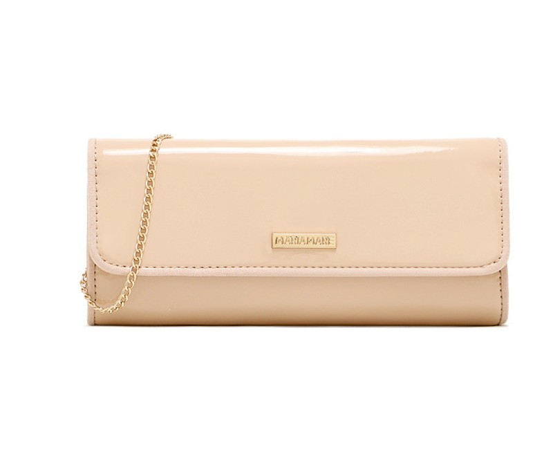 New Elegant Pure 3 Color Dinner Banquet Bag PU Leather High Quality Evening bag with chain HBF37 (10)