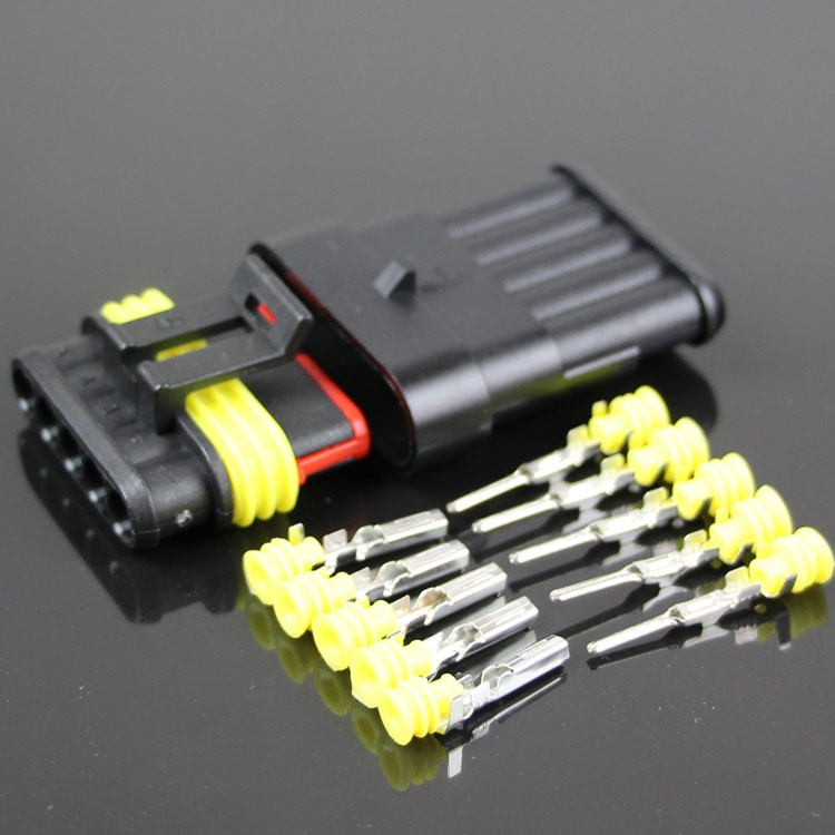 10 Sets NEW Car Part 5 Pin Way Sealed Waterproof Electrical Wire Auto Connector Plug 1 set ev1 fuel injector plug nozzle cars waterproof 2 pin way electrical wire connector plug automobile connectors with sheath