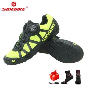 SIDEBIKE Novo Estilo Casual Sapatos De Ciclismo de Estrada Sapatos de Tênis Ao Ar Livre Profissional Não-Deslizamento Não-Bloqueio Sapatos de Ciclismo Bicicleta