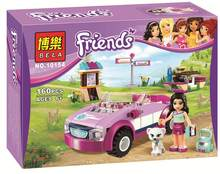 New Girls Friends series the Emma Sports Car model Building Block Classic girl toys Minis Compatible with Legoe 41013(China)