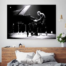 Bill Evans Music Cotton Canvas Art Print Painting Poster Wall Picture For Living Room Home Decorative Bedroom Decor No Frame the bill evans trio bill evans trio waltz for debby