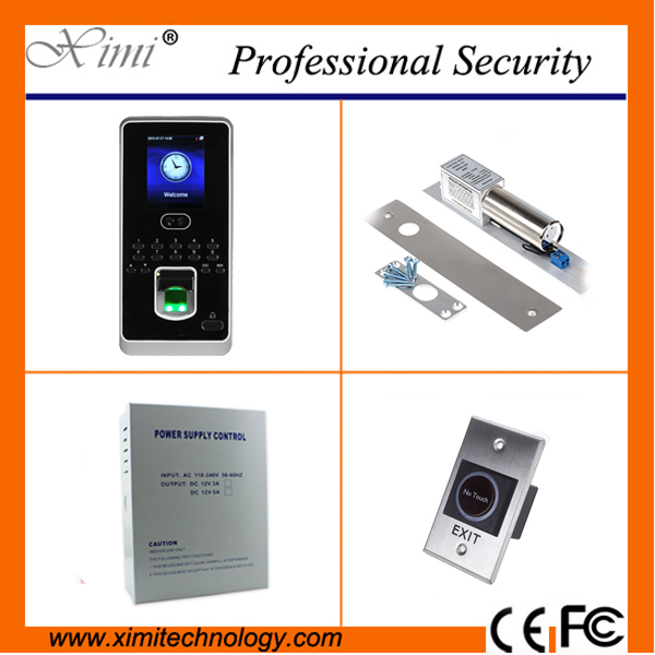 Free software biometric face time attendance tcp/ip rs232 1000 fingerprint user hot sale time attendance and access control kit
